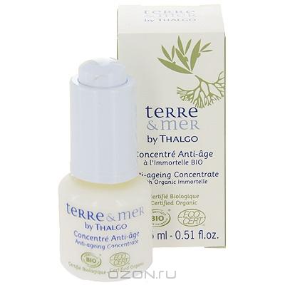 """Анти-возрастной концентрат для лица """"Terre & Mer by Thalgo"""", с маслом органического бессмертника, 15 м"""