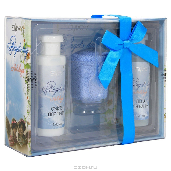 "Подарочный набор Shary ""Angel's Day"": пена для ванн, суфле для тела, полотенце"