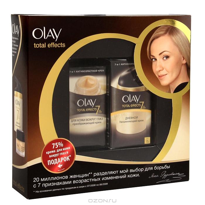 """Набор OLAY """"Total Effects 7x"""": дневной крем, крем преображающий кожу вокруг глаз"""