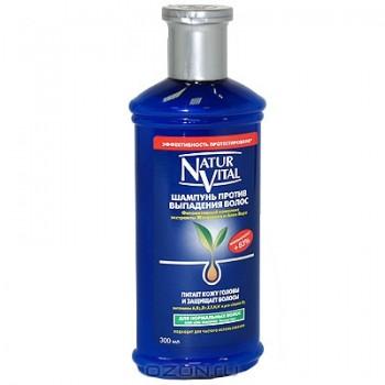 """Шампунь """"Natur Vital"""" против выпадения волос. Для нормальных волос, 300 мл"""