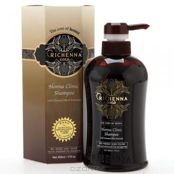 """Шампунь для волос """"Richenna. Gold"""", с хной и комплексом восточных трав, 500 мл"""