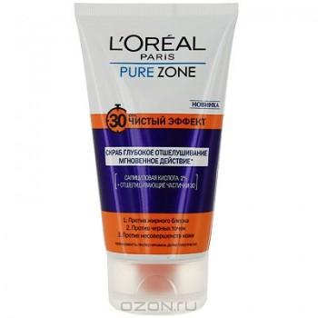 """Скраб L'Oreal """"Pure Zone. Чистый эффект"""", 150 мл"""