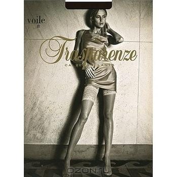 """Чулки Trasparenze """"Voile 8"""". Nero (черные), размер 3"""
