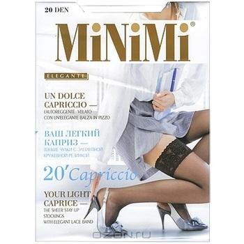 "Чулки Minimi ""Capriccio 20"". Bianco (белые), размер L/XL"