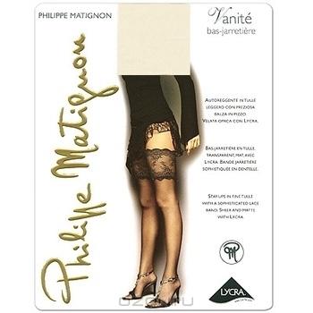 """Чулки Philippe Matignon """"Vanite Bas-Jarretiere"""". Avorio (слоновая кость), размер M (9 1/2)"""